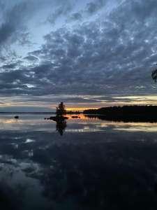Sääksjärvi auringonlasku