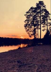 Pitkäjärven hiekkaranta